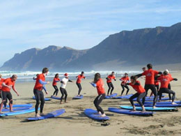 Surfing lessons in Lanzarote