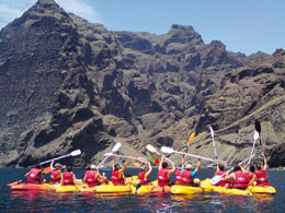 Kayaking in Los Gigantes
